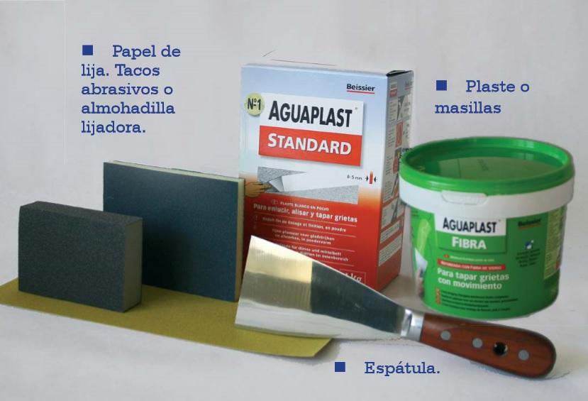 arreglar desperfectos en pared utensilios