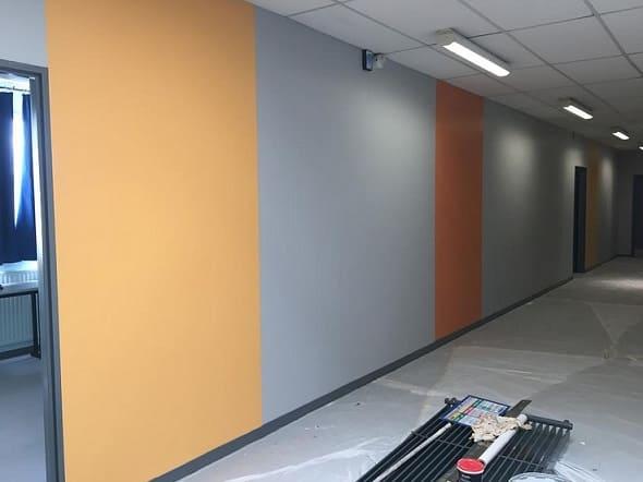 interior pared pintada
