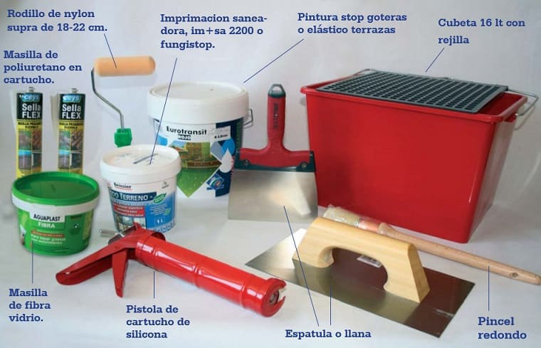 impermeabilizar terrazas material
