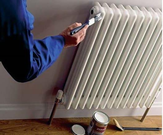 Cómo Pintar un radiador amarilleado por el efecto del calor