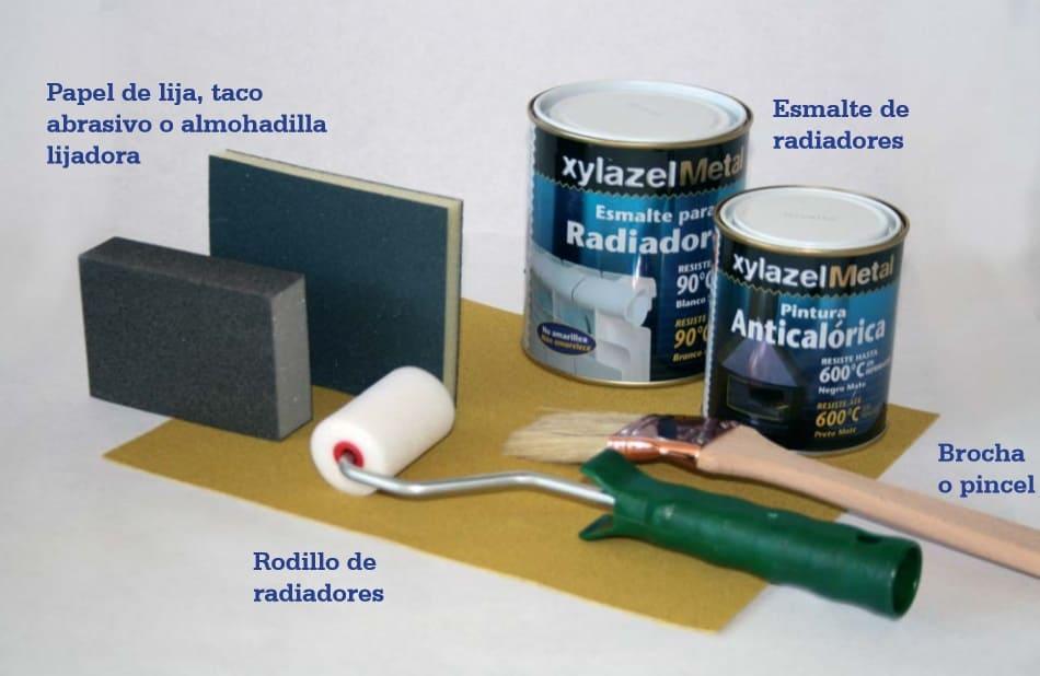 material para pintar un radiador