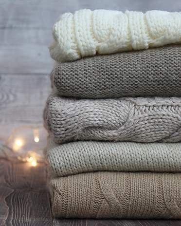 Estilo escandinavo - suéteres retorcidos - La Maison Saint Gobain